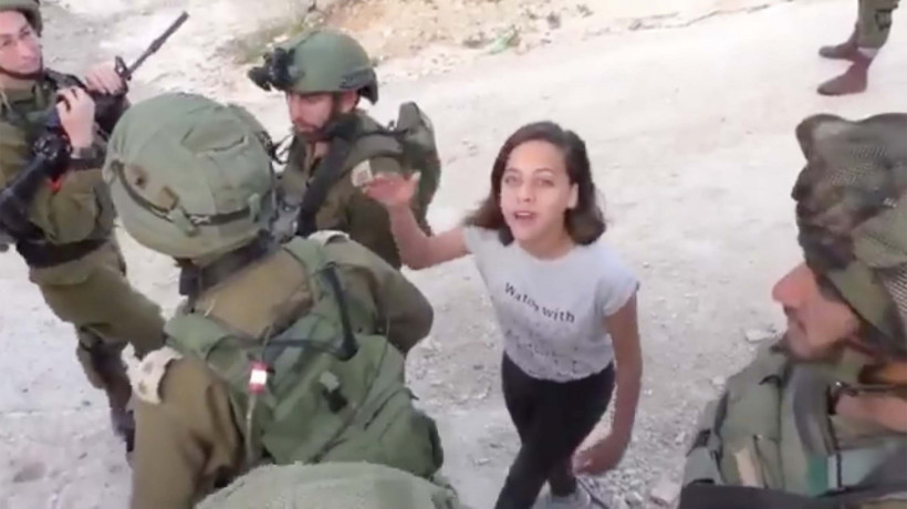 Janna Tamimi. Screen capture of Facebook video stills, April 21, 2018.