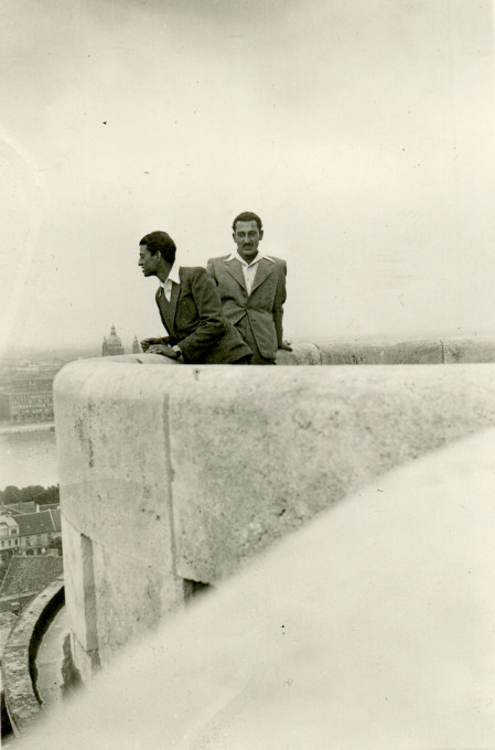 Tibor Adam in Budapest, Hungary; Date: 1942/44. Courtesy of Mirko Adam.