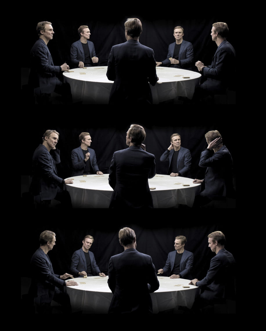 Figure 1. Geska and Robert Brečević/Performing Pictures Video stills from Verfünfungseffekt, in collaboration with actor Simon Norrthon. © Performing Pictures/ Bildupphovsrätt i Sverige, 2020.