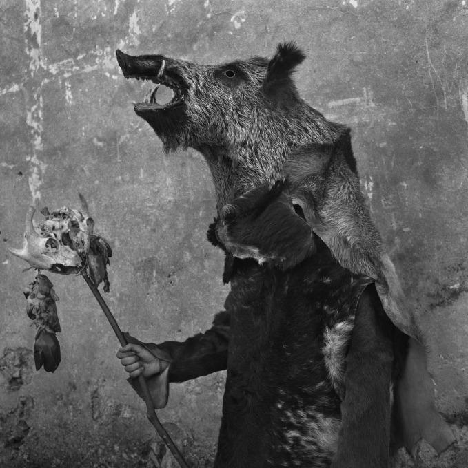 A 'Zarramaco'. Wild boar, carnival 'del gallo' of Mecerreyes, Spain, 2019. © 2020 Yannick Cormier.