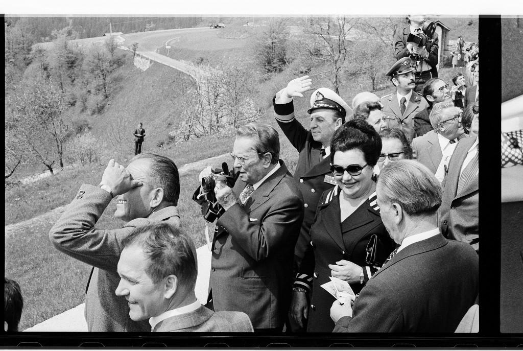 Joco Žnidaršič, Tito in Dražgoše, 1977. Courtesy of Galerija Fotografija. © Joco Žnidaršič